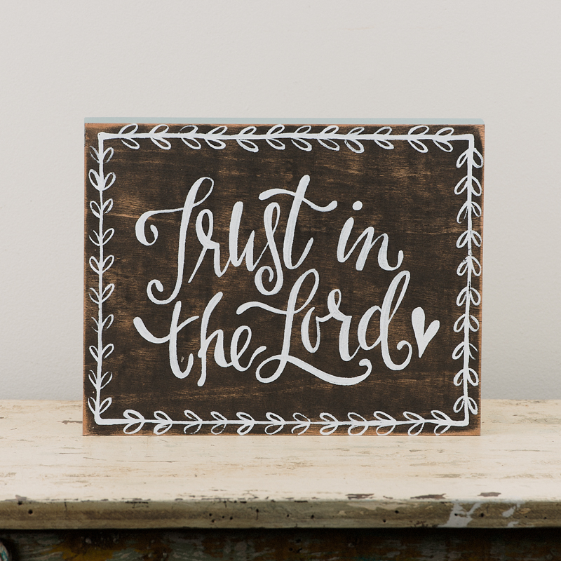 Trust In The Lord Framed Board