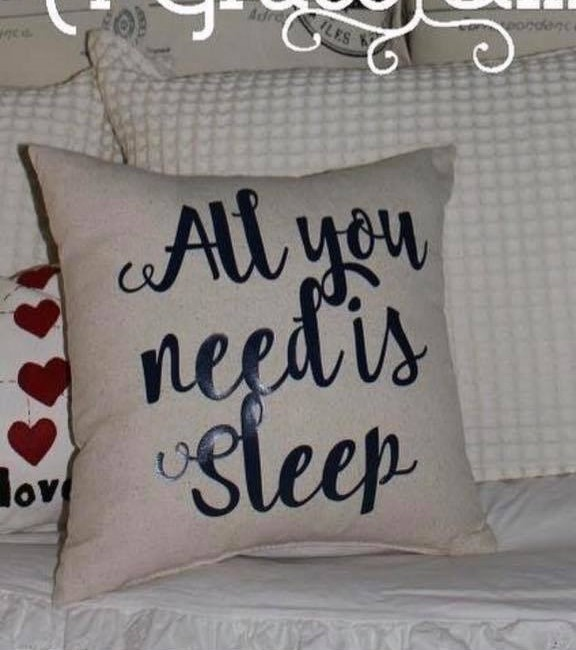 """All You Need is Sleep"" pillow"